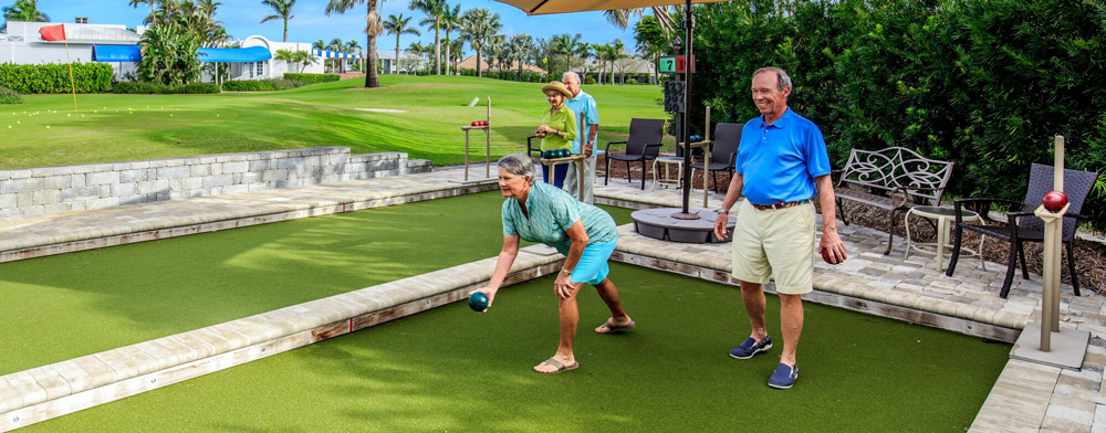 Bocce at the Moorings Golf and Country Club